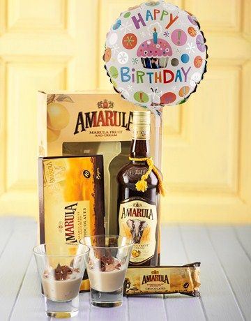 Buy Amarula and Tot Glass Hamper with Balloon Online - NetGifts