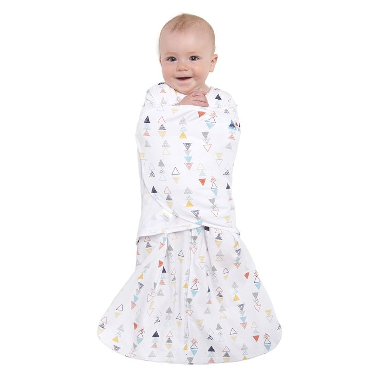 HaloSleep.com - HALO® SleepSack® Swaddle 100% Cotton | Multi Color Triangle , $28.95 (http://www.halosleep.com/halo-sleepsack-swaddle-100-cotton-multi-color-triangle/)