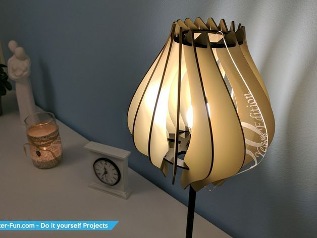 Laser cutted Lamp by TinkerFun - Thingiverse