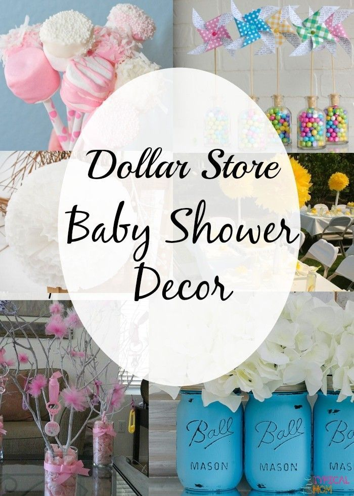 Dollar Store decorating ideas for a baby shower that are easy and inexpensive to do. Cheap baby shower centerpieces you can make yourself and are CUTE!