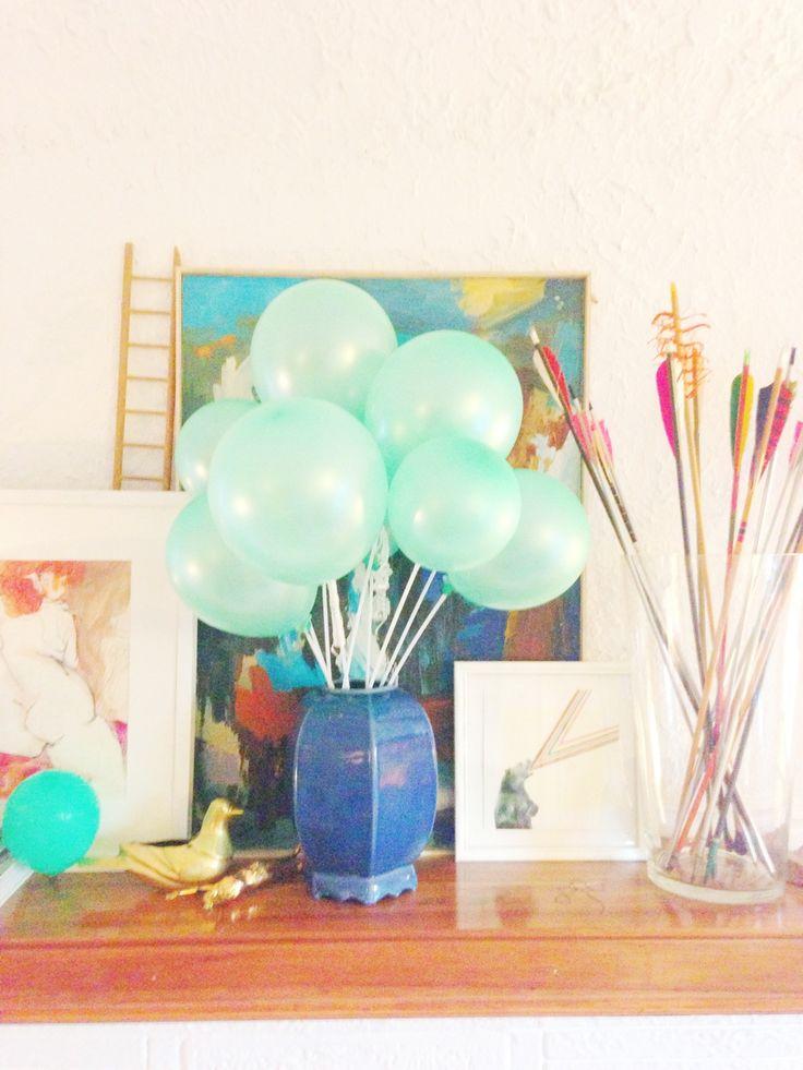 Best balloon stick centerpiece images on pinterest