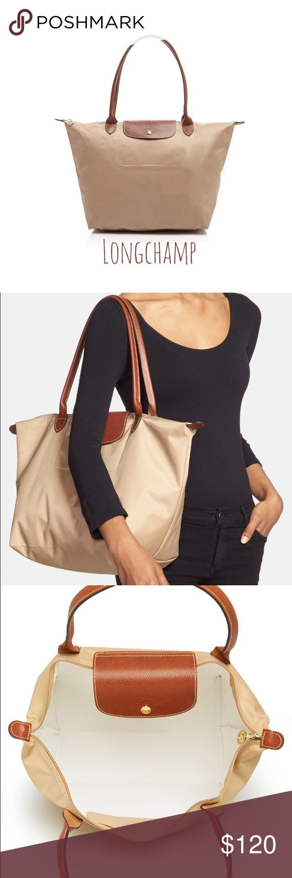 Longchamp Le Pliage nylon tote bag shoulder handle Brand new 100% authentic. dimension: 12 1/4x11 3/4x7 1/2 inches. Comes with Longchamp paper bag. Will provide a copy of gift receipt upon request. Longchamp Bags