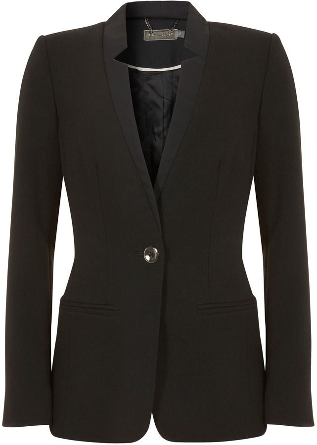 Mint Velvet Black Notch Jacket on shopstyle.co.uk