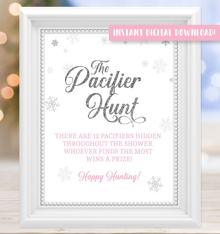 pacifier hunt baby shower game  baby its cold outside