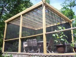 Screen Porch And Plexiglass/vinyl Clear Roof Panels