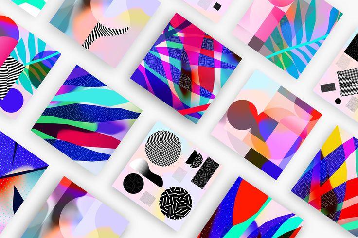 Ces patterns m'inspirent et me donnent des idées pour un projet personnel que je souhaite réaliser. J'aime les couleurs flashy et l'esprit pop de ces images.