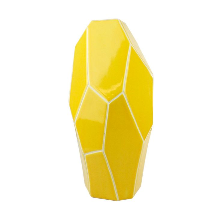 jewel cut vase large pops of yellow