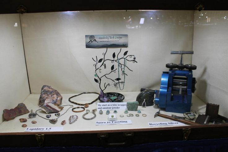 My Show Case for the Atlantic Coast Gem Show by Wandering Rock Designs
