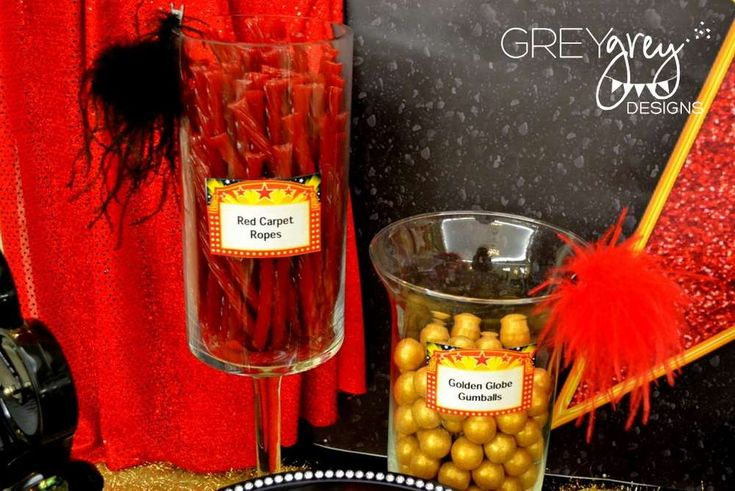Red, red carpet, Hollywood, Golden Statue Birthday Party Ideas   Photo 2 of 32   Catch My Party