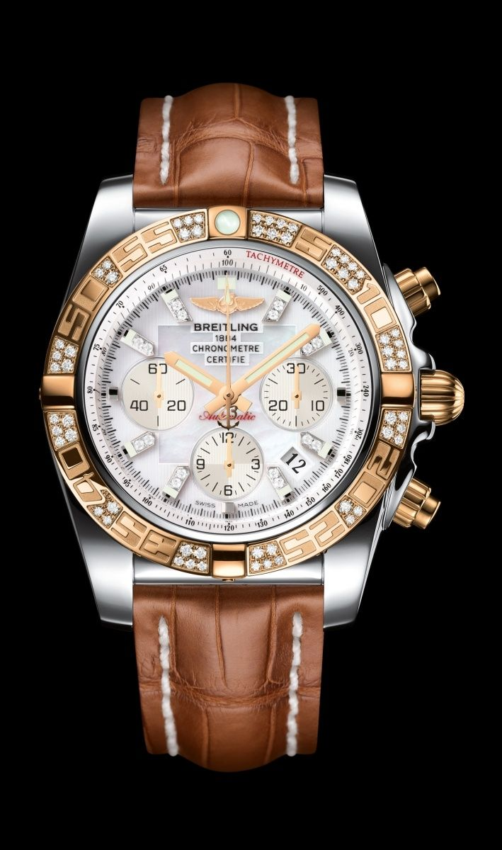#Chronomat 44 - steel & #gold case - #Breitling - Instruments for… | juwelier-haeger.de