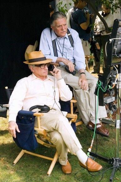 "Zwei Freunde beim Dreh: Martin Scorsese und Michael Ballhaus bei den Arbeiten an ""Departed - Unter Feinden"" (2006)"