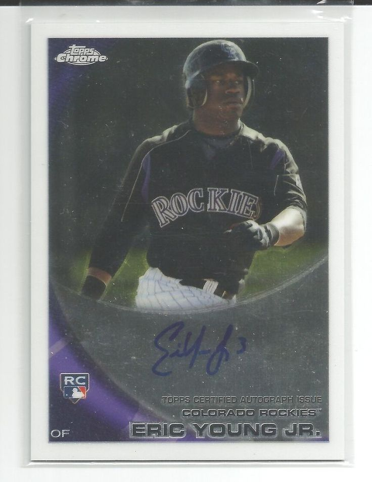 2010 Topps Chrome Eric Young Jr #171 AUTO/RC Rockies