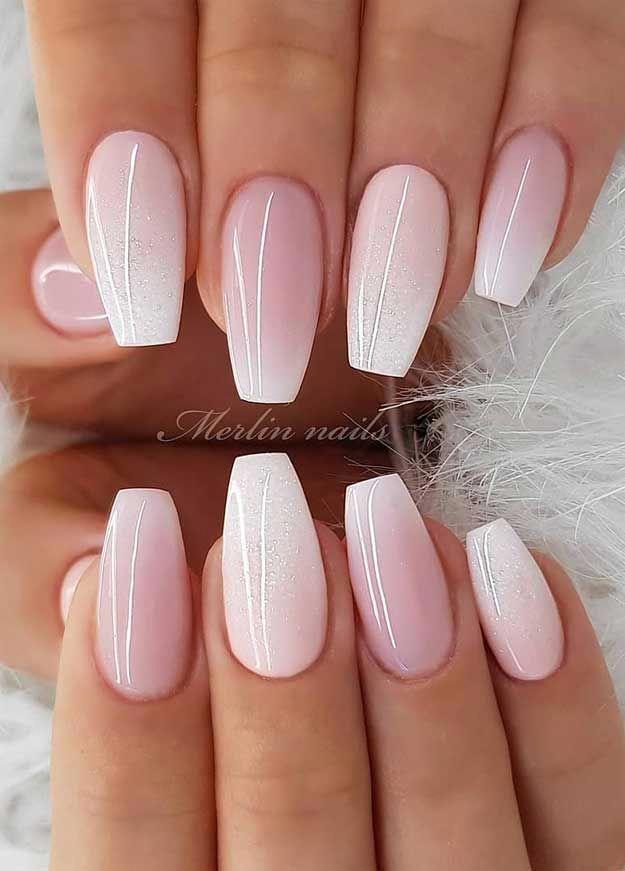 Wedding Nail Designs For Brides Nails With Glitter Nails For Wedding Guest Glitter Nail Designs In 2020 Pretty Nail Art Designs Nail Designs Glitter Bride Nails