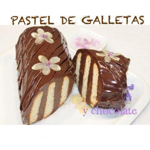 Pastel de galletas y chocolate