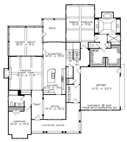 Bucknell place home plans and house plans by frank betz Frank betz house plans