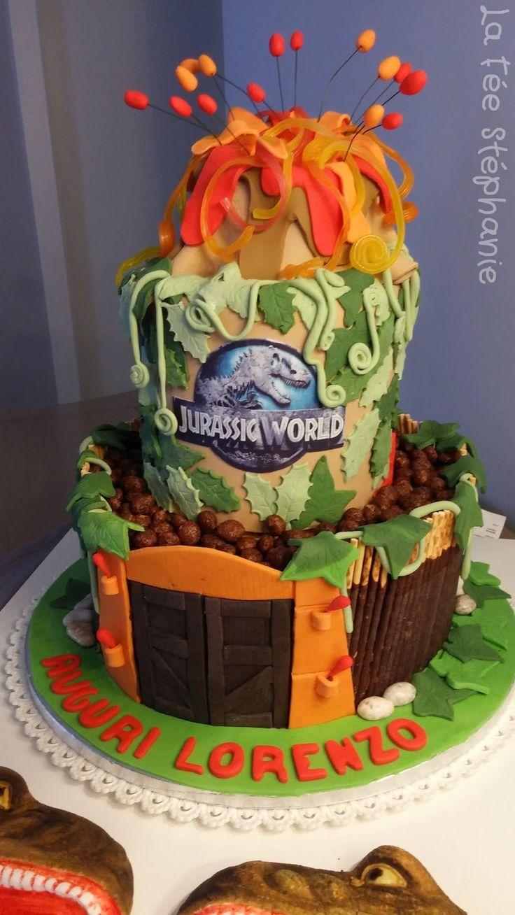 Dino birthday cake, parce qu'on peut faire quelque chose de très beau et bon, le tout végétal!