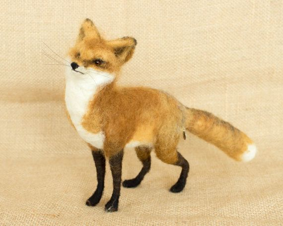 RESERVED FOR GABRIELE Jake the Red Fox Needle by TheWoolenWagon, $120.00