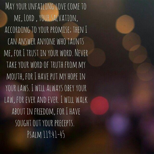 Psalm 119:41-45