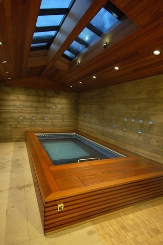 With An Endless Pool You Can Swim In Place Even In Narrow Spaces Where You Could Never Fit A Lap Pool This I Endless Pool Swimming Pools Indoor Outdoor Pool