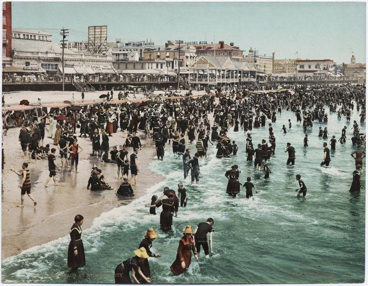 The Beach at Atantic City, 1902