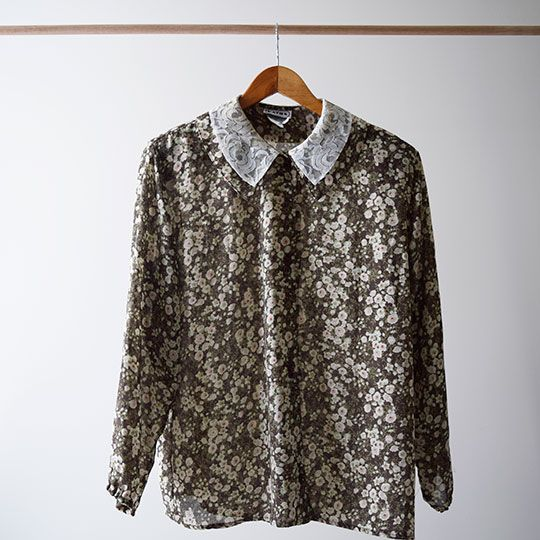 Made By Mee + Co | Lace Collar Floral Blouse