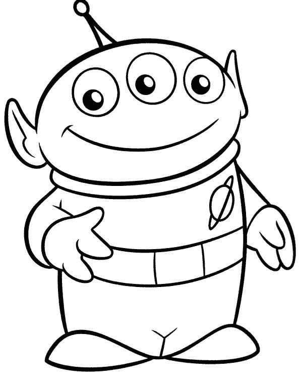 Alien Toy Story Coloring Pages Dibujos Sencillos Disney Toy Story Para Colorear Dibujos Toy Story