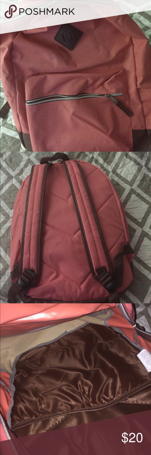 Pink bookbag Light pink bookbag. Lots of space to put your school things in. Amazing quality, only used twice!! Bags Backpacks