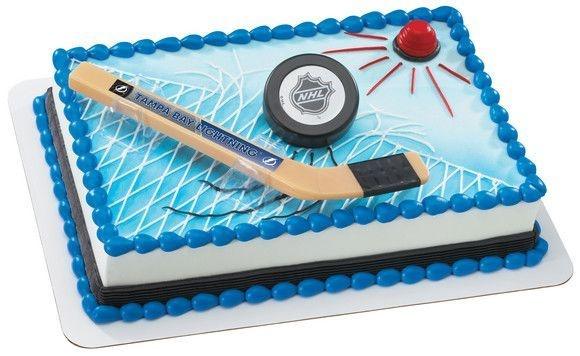 Ice Hockey Cake Decorating Kit : NHL Slap Shot Tampa Bay Lightning Cake Set ~ Create Your ...