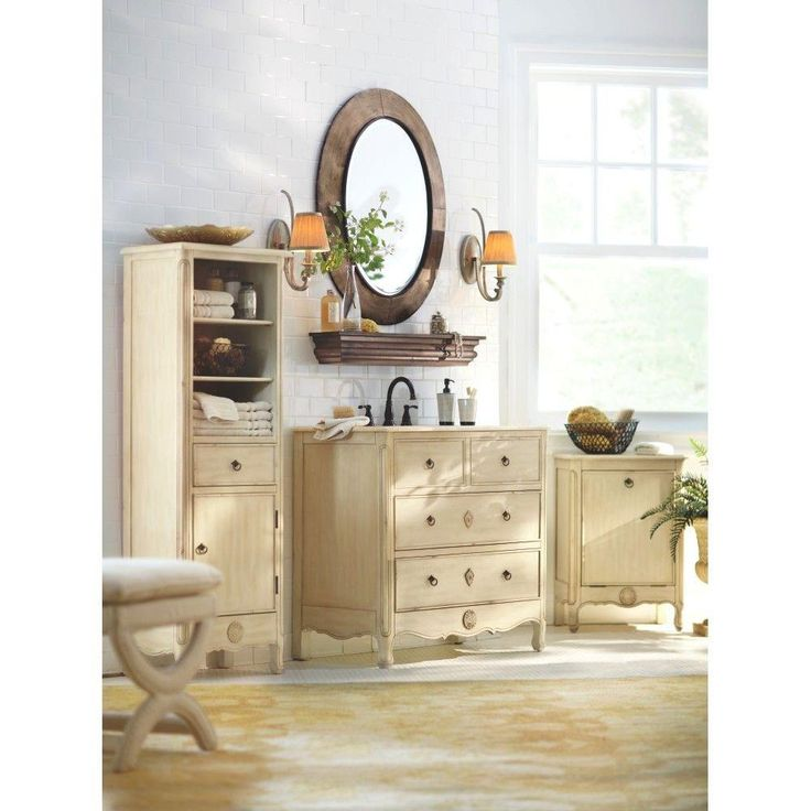 Enhance Your Homeu0027s Look With The Vintage Touch By Adding This Home  Decorators Collection Keys Vanity In Distressed Cream With Marble Vanity  Top In Beige.