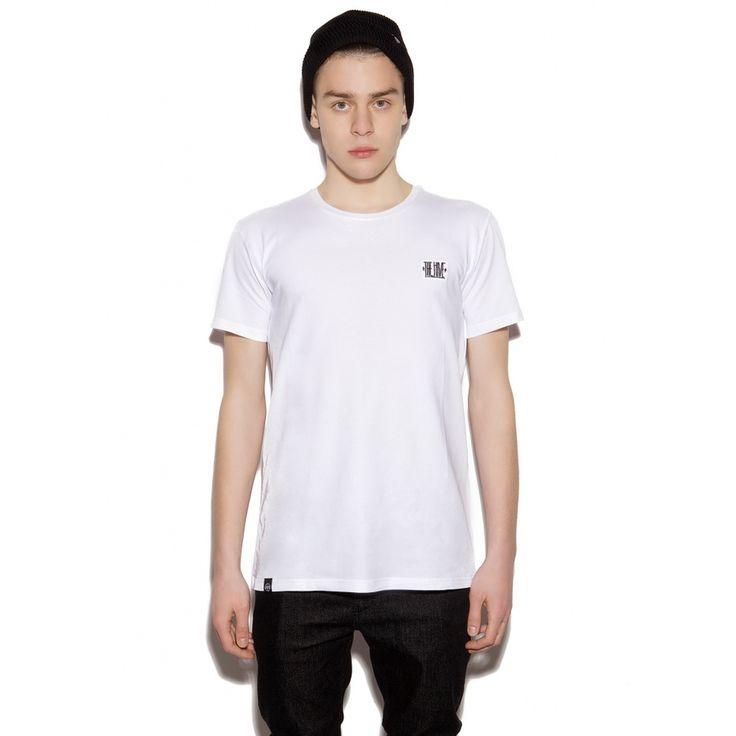 T-shirt męski LOGO PREMIUM TEE WHITE, od projektanta The Hive | Mustache.pl