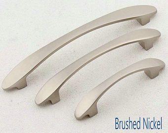 2 5 3 75 5 Black Brushed Nickel Chrome Cabinet Handle Dresser