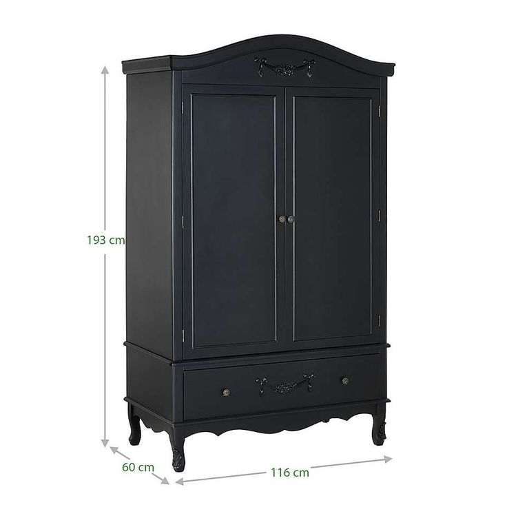 Toulouse Black Double Wardrobe | Dunelm