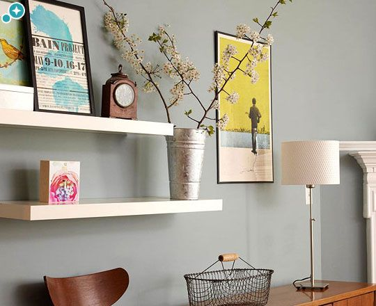 Click Pic for 33 Small Apartment Decorating Ideas - Floating Shelves for Gallery Display | Studio Apartment Decorating Ideas