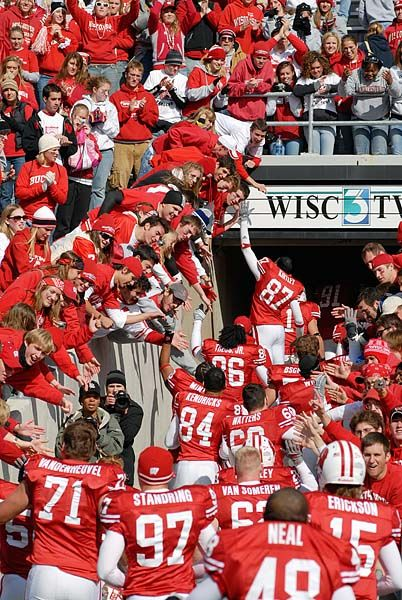 University of Wisconsin Football Players   communications board of regents of the university of wisconsin system