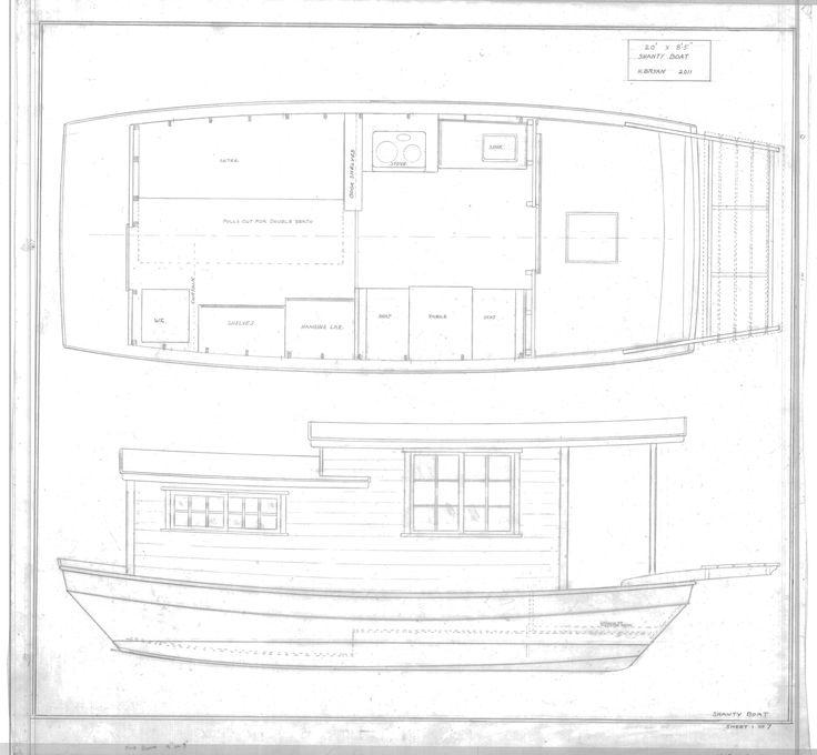 250 best 2013 shanty boat designs images on pinterest for Boat cabin plans