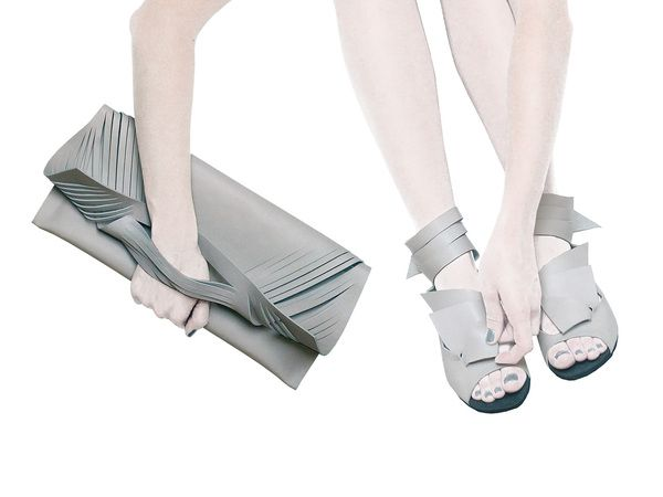 cut clutches and sandals