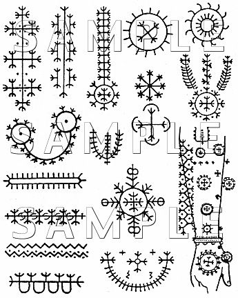 traditional croation tattoo pattens