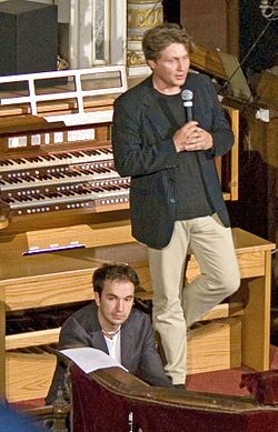 Varnus Xaver Hungarian organist Bach's lecture- 2009 Poszt Pecs.jpg