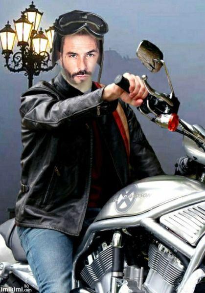 MAN WITH MOTO