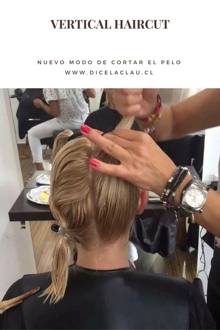 Un amanera poco clásica de cortar el cabello es el vertical haircut!