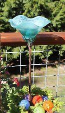 Бирюзовый синий ручной дутое стекло цветочный сад арт скульптура уличные украшения