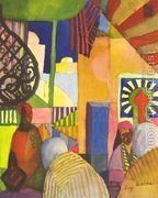 In The Bazar  by August Macke