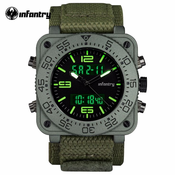 Aliexpress.com : Buy INFANTRY Mens Quartz Watches New Military Army Green Digital Watch Square Face Waterresistant Mens Clock Relogio Masculino from Reliable masculino suppliers on INFANTRY Official Store