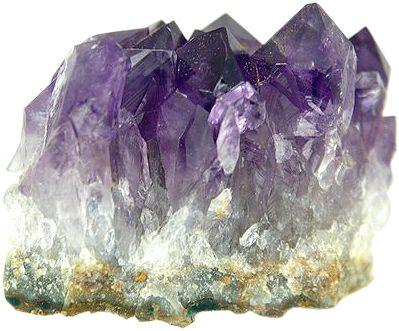 Doğal hallerinde ametist kristali.  Amethyst