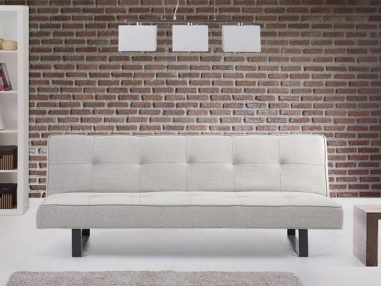 Sofa Bed - Couch - Settee - Lounge - DERBY white grey