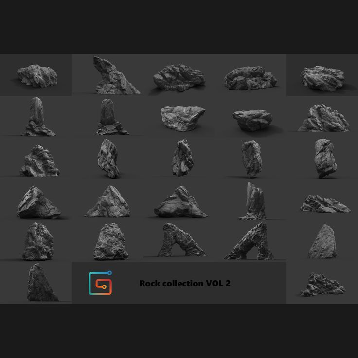 Rock Collection Vol 2 - Jungle Rocks, Alen Vejzovic on ArtStation at https://www.artstation.com/artwork/a9vBk