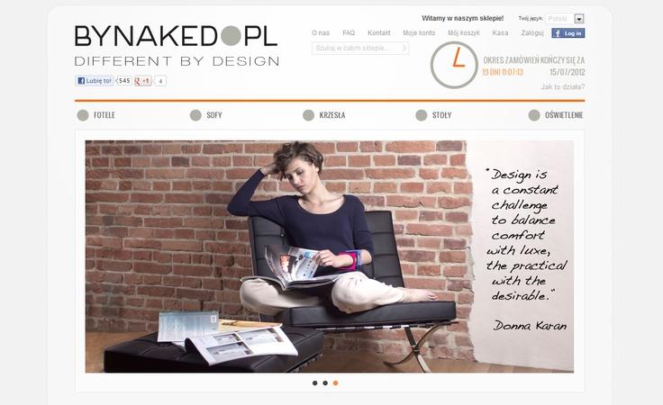 Webdesign for furniture importer. Visit online: www.bynaked.pl