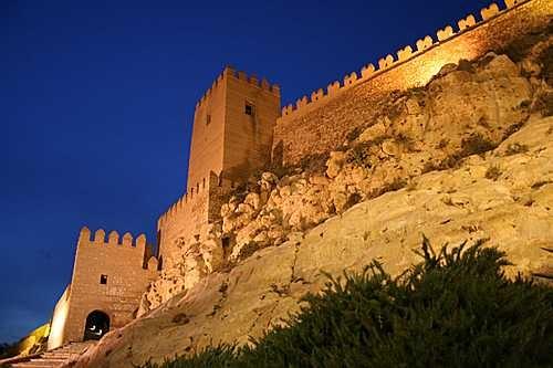 La Alcazaba de noche #Almeria