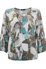 Frank Walder - blousetop met tropische bladeren