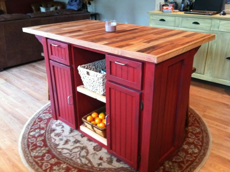 Lovely LOVE The Red! ~. Kitchen Island By Columbiawoodfurnish On Etsy